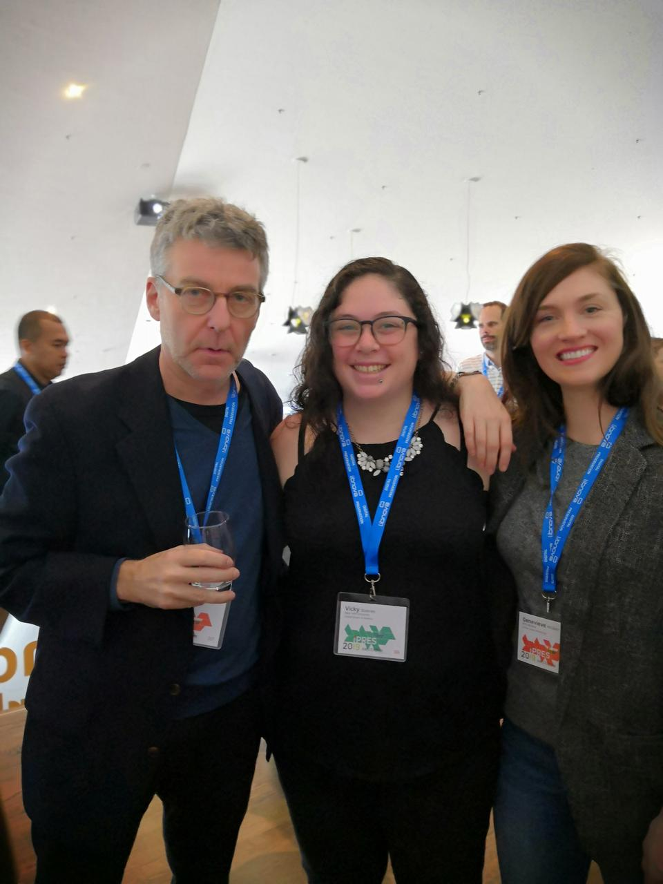 A picture of (left-to-right) David Millman, Vicky Steeves, and Genevieve Milliken.